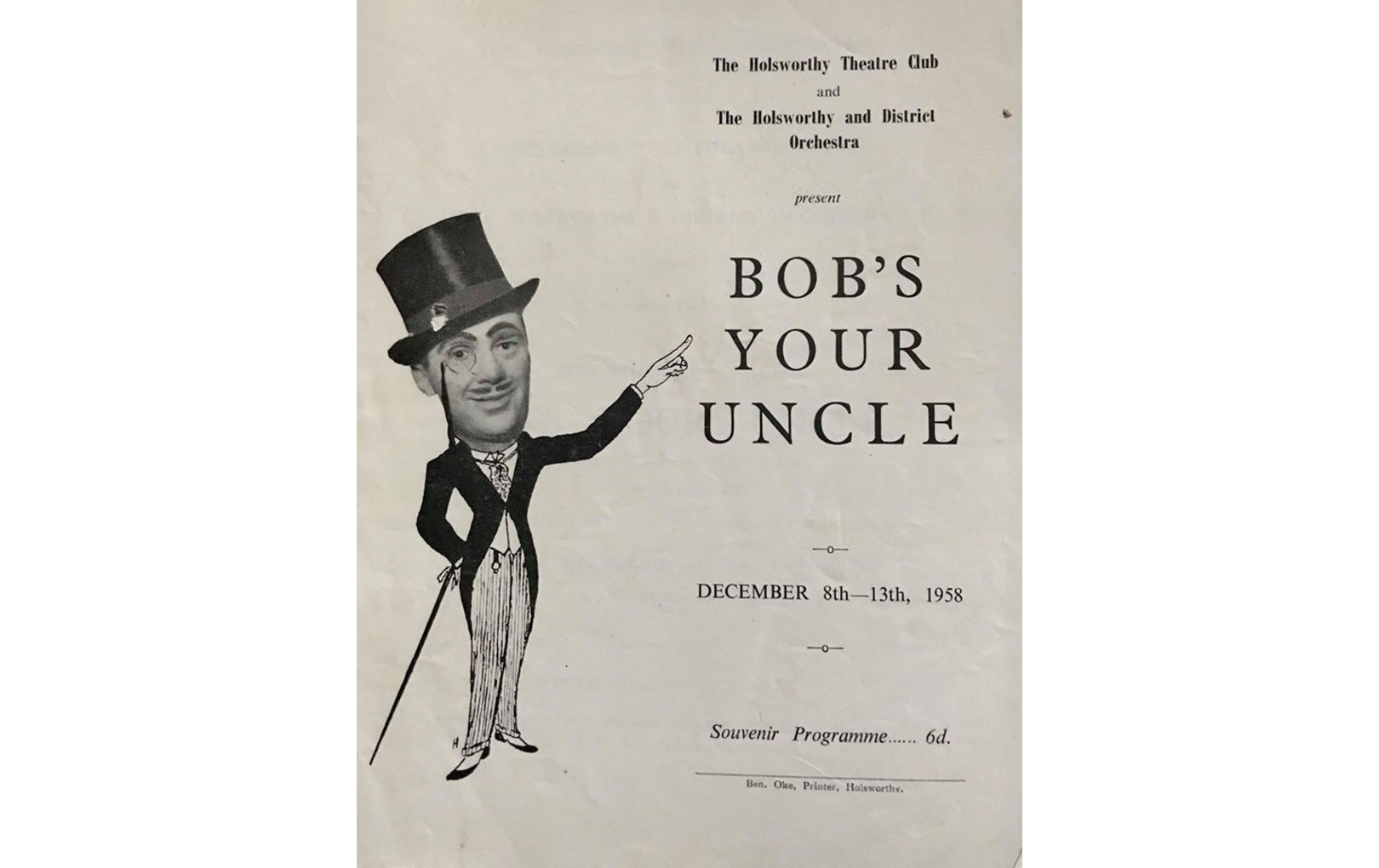 8th-13th Dec 1958 – Bob's Your Uncle (HTC)