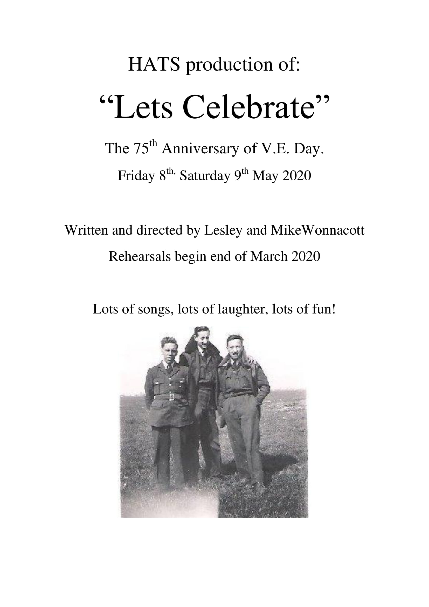 8th & 9th May 2020 – Let's Celebrate!