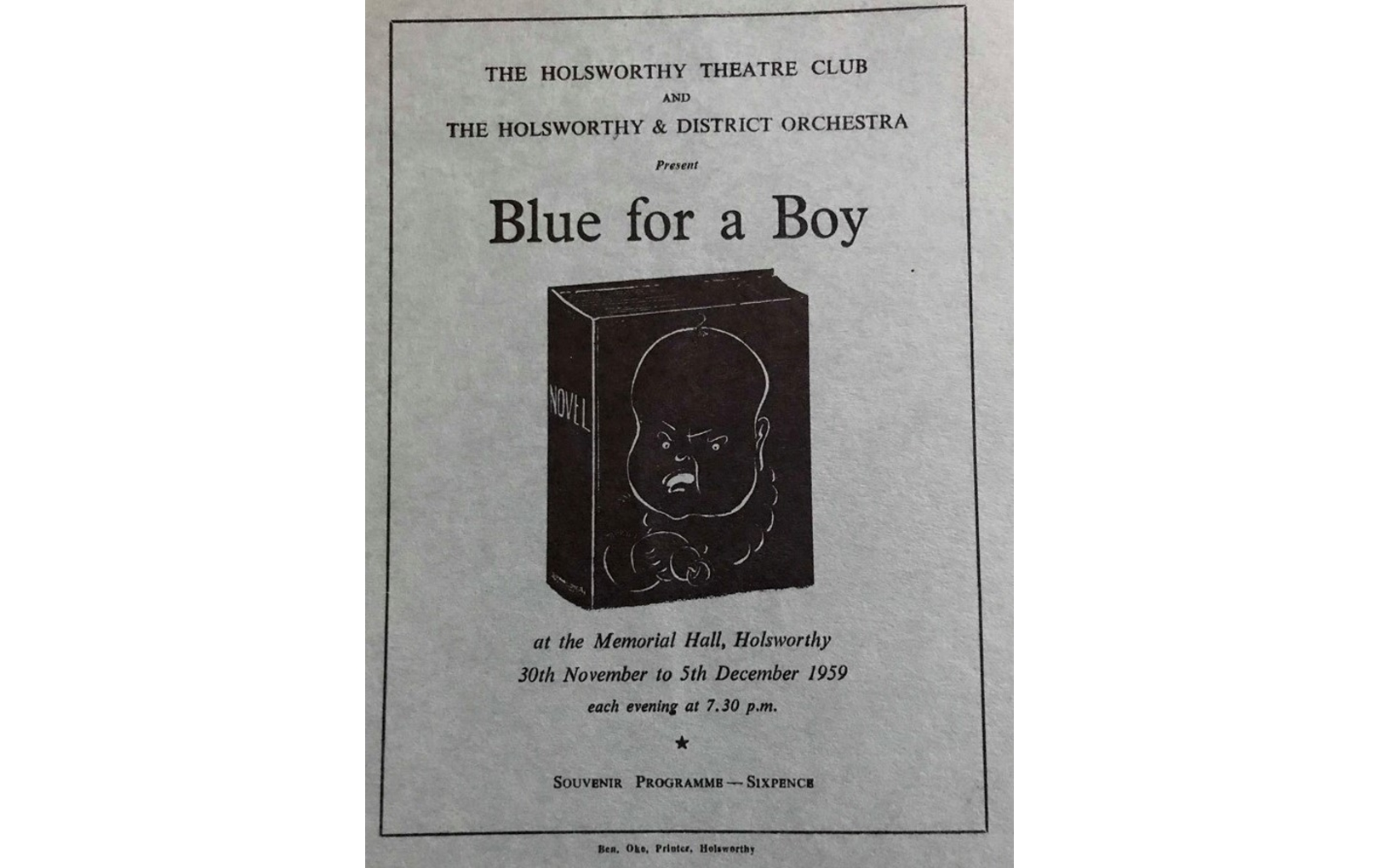 1959 – Blue For A Boy (HTC)